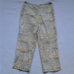 Tommy Bahama Capri Pants Silk Lined 10